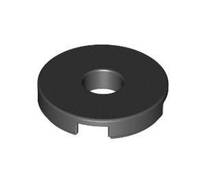 LEGO Black Tile 2 x 2 Round with Hole in Center (15535)