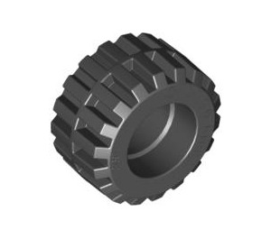LEGO Tire 21mm D. x 12mm - Offset Tread Small Wide (87697)