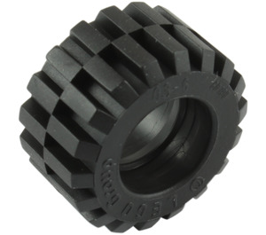 LEGO Black Tire 21mm D. x 12mm - Offset Tread Small Wide with Bevelled Tread Edge (60700)
