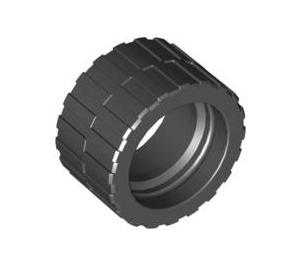 LEGO Black Tire 24 x 14 Shallow Tread (Tread Small Hub) without Band around Center of Tread (30648)