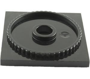 LEGO Black Turntable Flat Base 4 x 4 (61485)