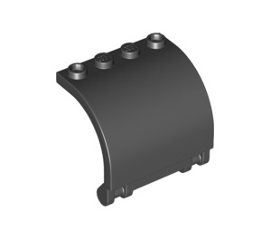 LEGO Black Wall Curved 3 x 4 x 3 with Hinge (18910)