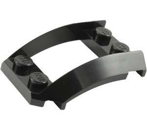LEGO Black Wedge 4 x 3 Curved with 2 x 2 Cutout (47755)