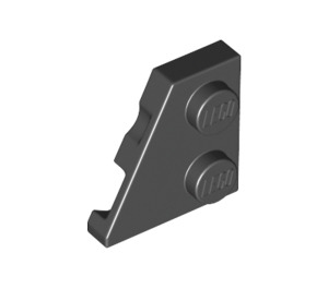 LEGO Black Wedge Plate 2 x 2 (27°) Left (24299)