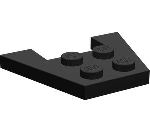 LEGO Black Wedge Plate 3 x 4 without Stud Notches (4859)