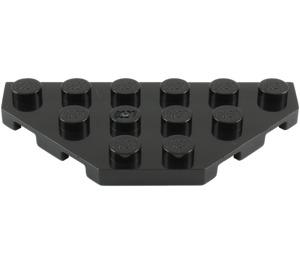 LEGO Black Wedge Plate 3 x 6 with 45º Corners (2419)