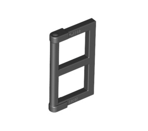 LEGO Black Window 1 x 2 x 3 Pane with Thick Corner Tabs (28961 / 60608)