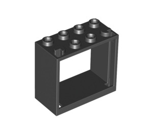 LEGO Black Window 2 x 4 x 3 with Square Holes (60598)