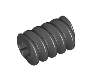LEGO Black Worm Gear with Old Axle (4716)