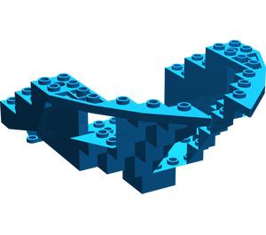 LEGO Blue Boat Bow 12 x 12 x 5 & 1/3 Hull Inside (6051)