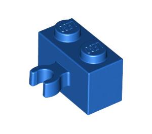 LEGO Blue Brick 1 x 2 with Vertical Clip (Open 'O' clip) (42925 / 95820)
