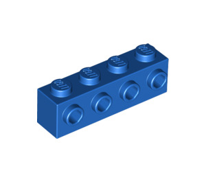 LEGO Blue Brick 1 x 4 with 4 Studs on One Side (30414)