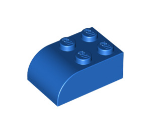 LEGO Blue Brick 2 x 3 with Curved Top (6215)