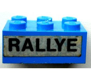 LEGO Blue Brick 2 x 3 with Sticker from Set 619