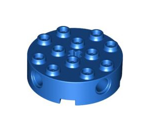 LEGO Blue Brick 4 x 4 Round with Holes (6222)