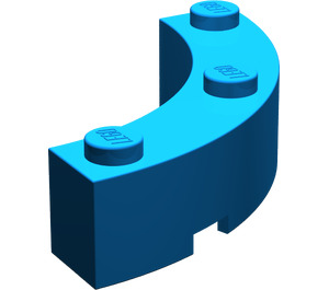 LEGO Blue Brick Corner 4 x 4 (Wide with 3 Studs) (48092)