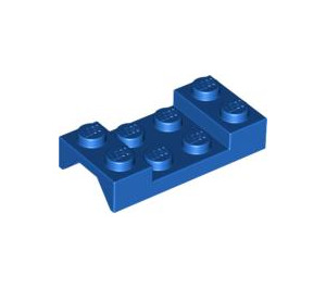 LEGO Blue Car Mudguard 2 x 4 without Hole (3788)