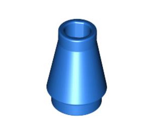 LEGO Blue Cone 1 x 1 without Top Groove (4589)