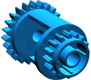 LEGO Blue Differential Gear Casing
