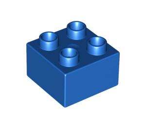 LEGO Blue Duplo Brick 2 x 2 (3437)