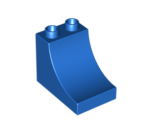 LEGO Blue Duplo Brick 2 x 3 x 2 with Curved Ramp (2301)