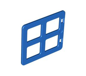 LEGO Blue Duplo Window 4 x 3 with Bars with Same Sized Panes (90265)