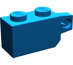LEGO Blue Hinge Brick 1 x 2 Locking with Single Finger (Vertical) On End