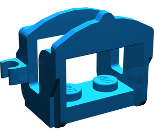 LEGO Blue Horse Saddle with One Clip (4491)