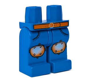 LEGO Blue Island Xtreme Stunts Legs with Silver Knee Pads and Brown Belt