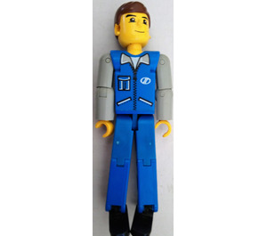 LEGO Blue Legs, Blue Top with Zipper and Pockets Technic Figure