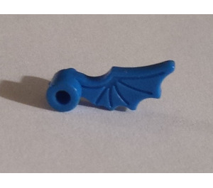 LEGO Blue Minifig Accessory Helmet Plume Dragon Wing Left