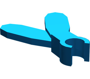 LEGO Blue Minifig Feathered Plume with Clip