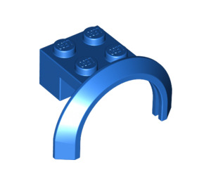 LEGO Blue Mudguard with Round Arch 4 x 2 1/2 x 2 (50745)