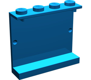 LEGO Blue Panel 1 x 4 x 3 without Side Supports, Solid Studs (4215)