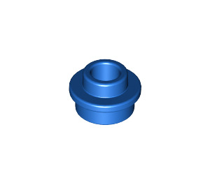 LEGO Blue Plate 1 x 1 Round with Open Stud (28626)