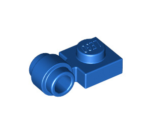 LEGO Blue Plate 1 x 1 with Clip (Thick Ring) (4081 / 41632)