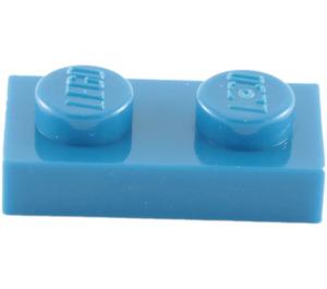 LEGO Blue Plate 1 x 2 (3023)
