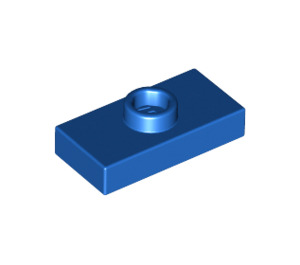 LEGO Blue Plate 1 x 2 with 1 Stud (with Groove) (3794)