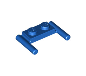LEGO Blue Plate 1 x 2 with Handles (Low Handles) (3839)