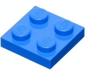 LEGO Blue Plate 2 x 2 (3022 / 94148)