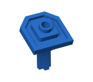 LEGO Blue Plate 2 x 2 with One Stud and Angled Axle (47474)
