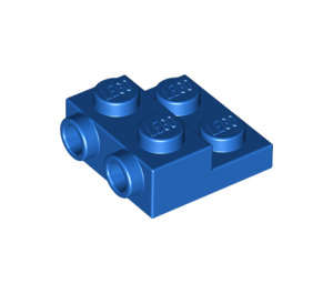 LEGO Blue Plate 2 x 2 x 2/3 with 2 Studs on Side (99206)