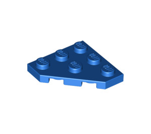 LEGO Blue Plate 3 x 3 without Corner (2450)