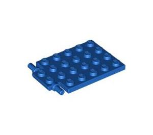 LEGO Blue Plate 4 x 5 Trap Door Flat Hinge (92099)
