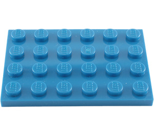 LEGO Blue Plate 4 x 6 (3032)