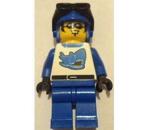 LEGO Blue Racer with shark design Minifigure