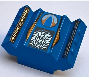 LEGO Blue Rear 2 x 2 Motor Block with Silver Engine