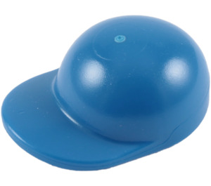 LEGO Blue Short Curved Bill Cap with Short Curved Bill (86035)