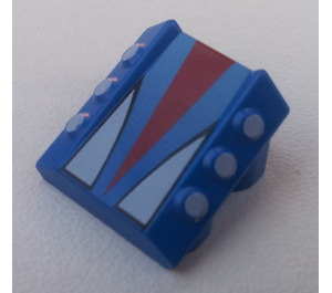 LEGO Blue Slope 1 x 2 x 2 with Flanges and Pistons with Zero Hurricane Logo
