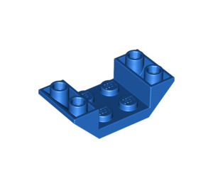 LEGO Blue Slope 2 x 4 (45°) Double Inverted with Open Center (4871)